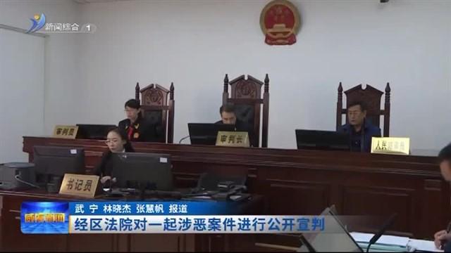 经区法院对一起涉恶案件进行公开宣判